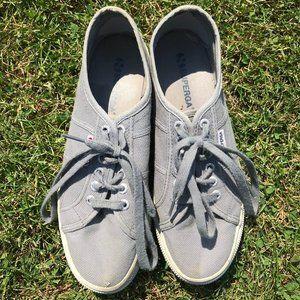 Grey Superga Platform Sneakers